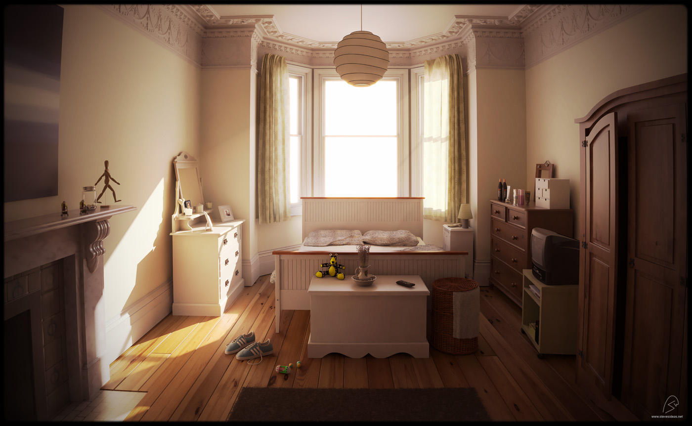 Summer Bedroom - stevesideas - 3d freelance
